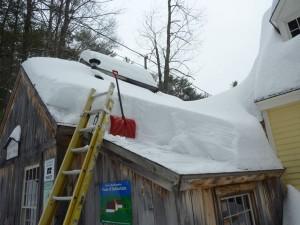 Shoveling off the Sugar House